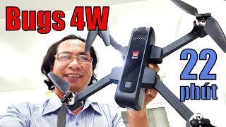 ➤ Flycam Bugs 4W - Cam 2K - Test bay xa và bay cao, mở hộp soi chi tiết...