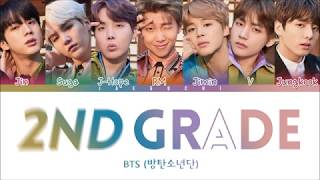 BTS - 2ND GRADE (2학년) (Color Coded Lyrics Eng/Rom/Han)