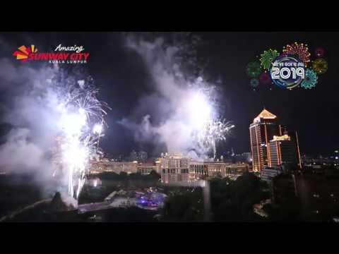 Spectacular Fireworks Display 2019 @ Sunway City Kuala Lumpur (Full version)