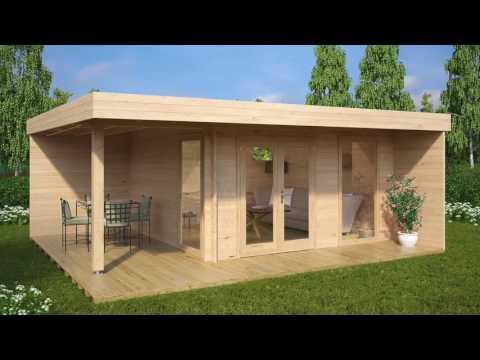 Wie und wo können Sie ein vorgefertigtes hölzernes Gartenhaus leicht kaufen?