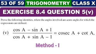 Ques 5 Part 5 Exercise 8.4 Introduction to Trigonometry Class 10 Maths