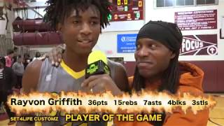 #9 Ranked in the nation Rayvon Griffith goes off in 2nd game of the season vs Gamble Jr  High