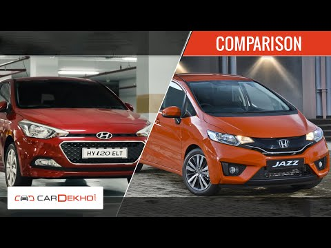 Hyundai Elite i20 Diesel Vs 2015 Honda Jazz | Comparison Video | CarDekho.com