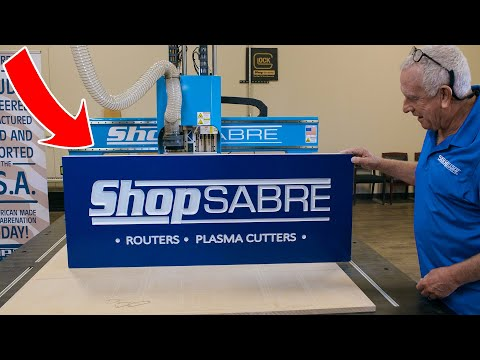 ShopSabre CNC Engraved Sign on IS Series 408 Routervideo thumb