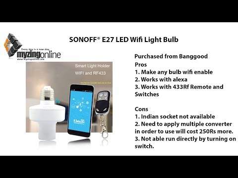 SONOFF® E27 LED Wifi Light Bulb Review - Banggood