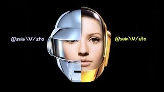 Ellie Goulding vs Daft Punk There's Something About Us Under The Sheets (video)