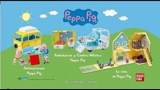 JUGUETES PEPPA PIG: Casa 🏠 Autocaravana 🚌 y Centro Médico 🏥 Trailer