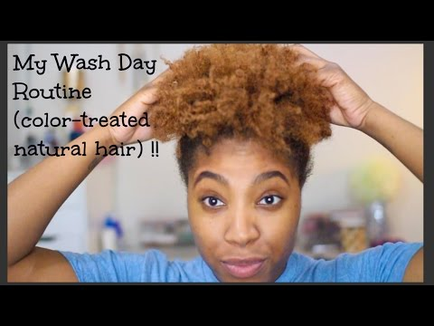 Video Wash Day Routine (dry/color-treated natural hair)| Aynye' Capri