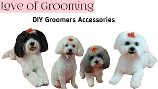 How to make and attach flowers to dogs hair   DIY Groomers Accessories