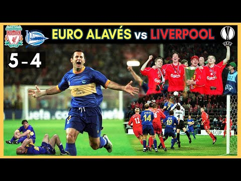 El EURO ALAVÉS y la Final de la Copa de la UEFA vs LIVERPOOL (5-4)🏆😥  (2001)