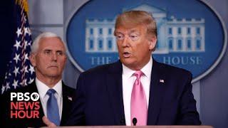 WATCH LIVE: Trump gives coronavirus update alongside White House task force — April 9, 2020
