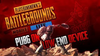 PUBG ON LOW END DEVICE | PUBG MOBILE LITE WITH DYNAMO GAMING