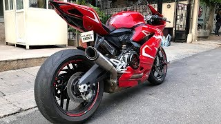Carbon Ducati 959 Panigale w/ SC Project S1 Exhaust