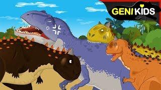 Carnotaurus vs Giganotosaurus ★Genikids Dinosaur World