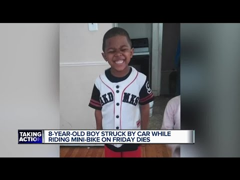8-year-old Detroit boy dies after mini-bike collides with car