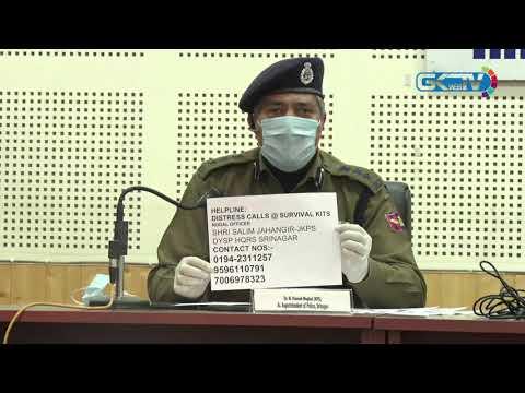 Srinagar police establishes helplines as admin tightens lockdown