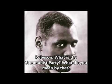 Paul Robeson talking back at his racist accusers