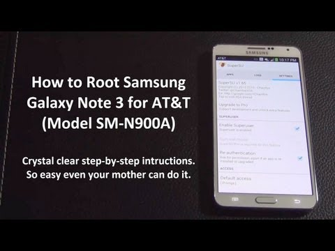 How To Root Samsung Galaxy Note 3 For AT&T (SN-N900A) Mp3