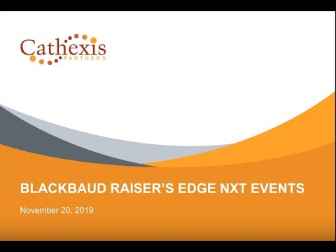 Introduction to Managing Events in Raiser's Edge NXT - YouTube