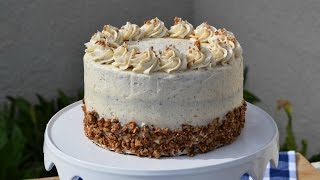 How To Make Brown Butter Pecan Cake with Brown Butter Pear and Custard Filling