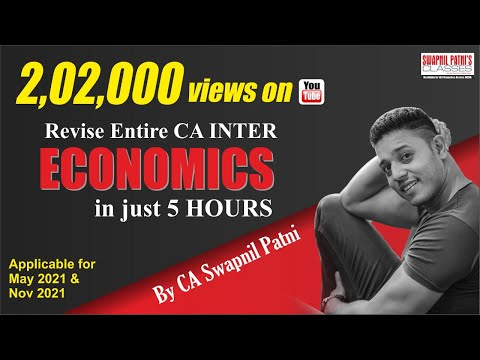 CA INTER ECO Revision - May 21- Nov 21| charts & practical examples| solution of Past exams