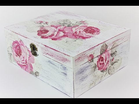 How to make a decoupage box - Decoupage tutorial - DIY
