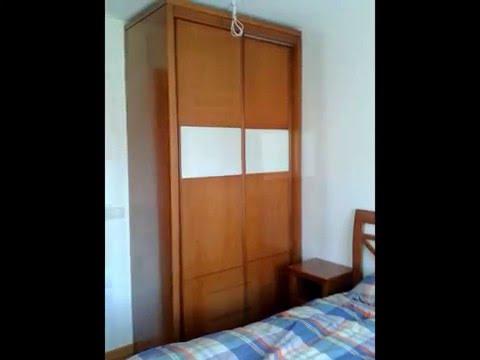 armario puertas correderas madera haya