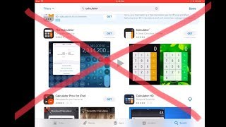 How to get a calculator on an iPad without installing an app