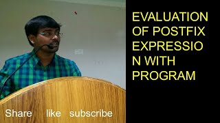 DATA STRUCTURES Algorithm Of Evaluation Of Post Fix Expressions Along With   C  Program