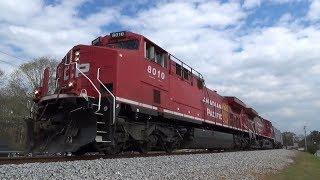 Newly Rebuilt Canadian Pacific AC44CWM Locomotives Lead CSX Ethanol Trains K447-03 And K442-24