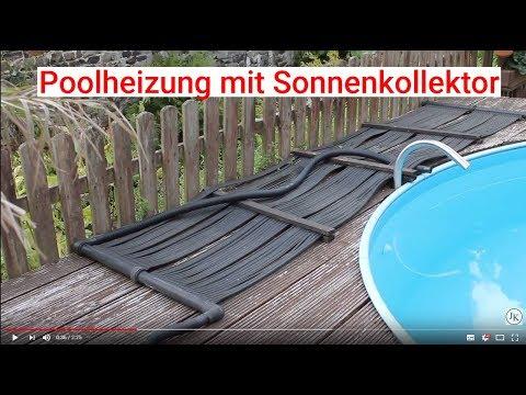 Poolheizung mit Sonnenkollektor
