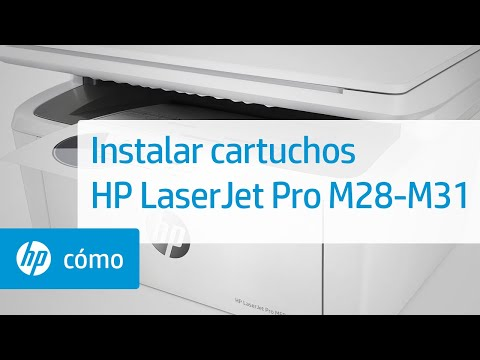 Cómo instalar cartuchos en impresoras HP LaserJet Pro MFP M28-M31