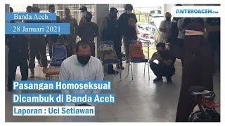 VIDEO: Pasangan Homoseksual di Banda Aceh Dicambuk