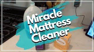 MIRACLE MATTRESS CLEANER! | MATTRESS STAIN REMOVAL & CLEANING | MATTRESS CLEANING W/ BAKING SODA