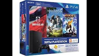 Playstation4Slim-Распаковка+3игры+PlaystationPlus3месяца