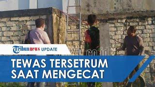 Tewas Tersetrum saat Mengecat Tembok Pabrik Es di Tuban, Pria Ini Gunakan Tangga & Tongkat Alumunium