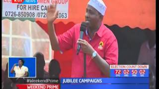 DP William Ruto camps in Loitoktok drumming support for Jubilee