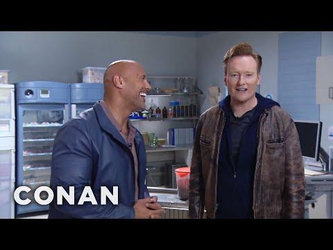 Conan & Dwayne Johnson Remote Outtake: Conan Is A Big Woman