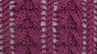 Lace Knitting Pattern غرز تريكو