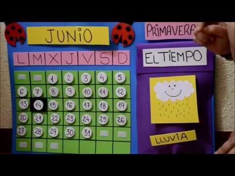 Calendario Infantil de goma eva.