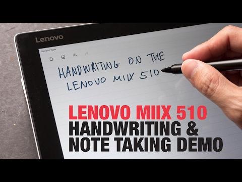 Lenovo Miix 510 Handwriting & Note Taking Demo