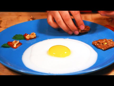 Molecular gastronomy Dessert egg Video #2