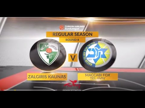EuroLeague Highlights RS Round 4: Zalgiris Kaunas 74-87 Maccabi FOX Tel Aviv
