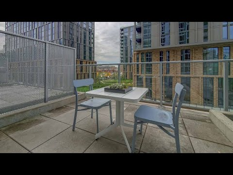 A -10 studio with a private patio at the boutique Gateway West Loop