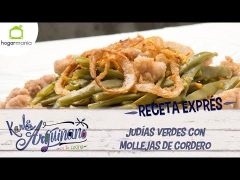 Karlos Arguiñano: receta de judías verdes con mollejas de cordero