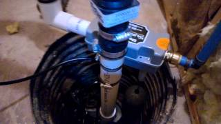 Liberty Sump Pump Water Powered Backup Finished Basement
