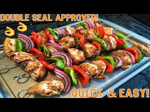 Video High Protein Bodybuilding Grilled Chicken Skewers | Easy Healthy Recipe