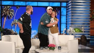 Ellen & Jon Dorenbos Surprise an Inspiring Philadelphia Eagles Fan