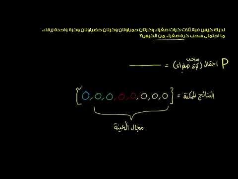الصف السابع الرياضيات الإحصاء والاحتمالات تمرين على الاحتمال البسيط