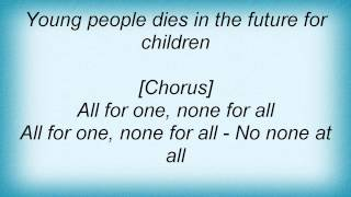 Doctor Butcher - All For One, None For All Lyrics